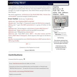 ongoing · Learning REST