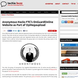 Anonymous Brings Down FTC's OnGuardOnline in Protest Against Megaupload Shutdown