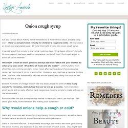 Onion cough syrup : Vintage Amanda