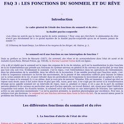 Oniros - Reve et conscience : FAQ3