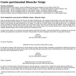 Blanche Neige de frères Grimm