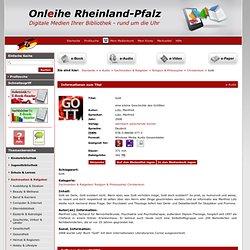 die Onleihe Verbund Rheinland Pfalz. Gott