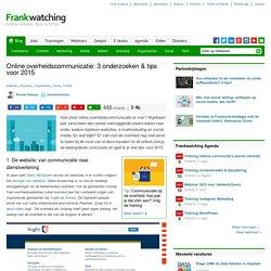 Online overheidscommunicatie in 2015