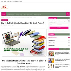 How To Book Sell Online Get Know About This Simple Process?