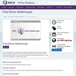 Course: Ethical Standards Walkthrough