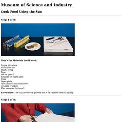 MSI - Online Activities - Cook Food Using the Sun