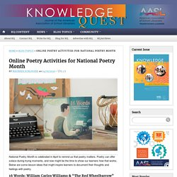 Online Poetry Activities for National Poetry Month
