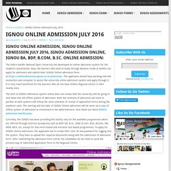 Ignou Online Admission 2016 - Ignou Assignments