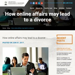 How online affairs may lead to a divorce?
