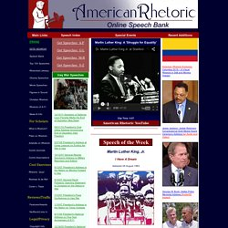American Rhetoric: Online Speech Bank