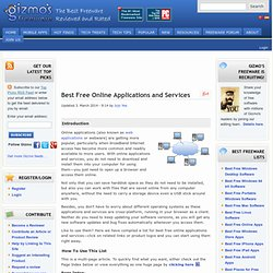 Best Free Online Applications and Services