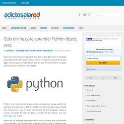 Guía online para aprender Python desde cero