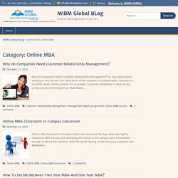 Online MBA Archives - MIBM Global BLog