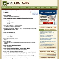 Online Army Study Guide - First Aid