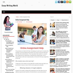 Online Assignment Help ~ Essay Writing World
