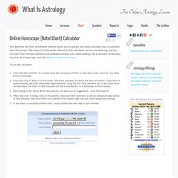 Free Online Astrological Chart Calculator
