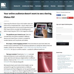 Your online audience doesn't want to see a boring, lifeless PDF