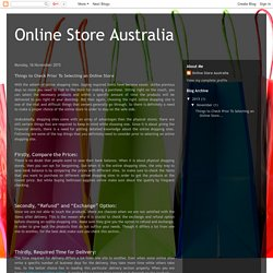 Online Store Australia: Things to Check Prior To Selecting an Online Store
