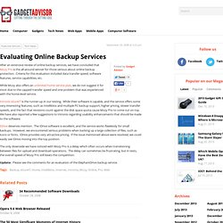 The Best Online Backup Service