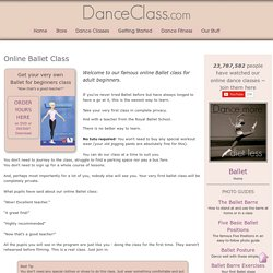 Online Ballet Class for Adult Beginners
