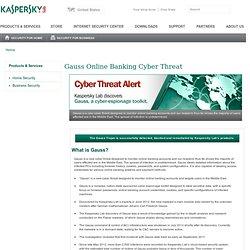 Gauss Online Banking Cyber Threat