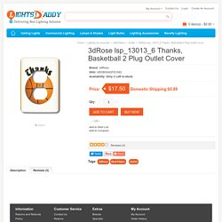 Buy online Latest 3dRose lsp_13013_6 Thanks, Basketball 2 Plug Outlet Cover on lightsdaddy.com