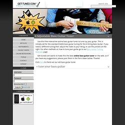 Online Bass Guitar Tuner