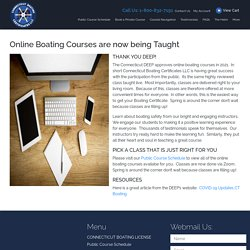 Online Boating Courses are now being Taught Right Now