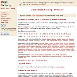 Online Book Catalog - Overview