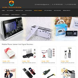 Buy Online Mobile Phone Jammer, Signal Booster & Gadgets On Spy Store
