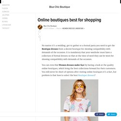 Online boutiques best for shopping