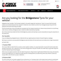 Buy Online Bridgestone Tyres Aldershot