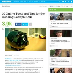 10 Online Tools and Tips for the Budding Entrepreneur