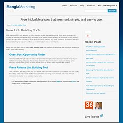 Free Online Link Building Tools for SEO | Mangia Marketing