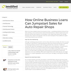 How Online Business Loans Can Jumpstart Sales for Auto Repair Shops