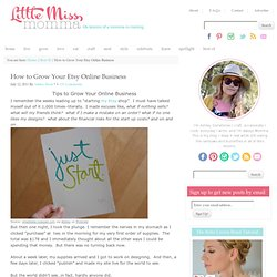 Little Miss Momma: How to Grow Your Etsy Online Business - StumbleUpon