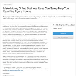Get the Online Business Ideas for Beginners