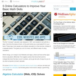 5 Online Calculators to Improve Your Basic Math Skills