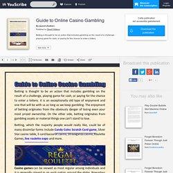 Guide to Online Casino Gambling