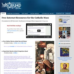 Free Online Catholic Sacred Music Resources