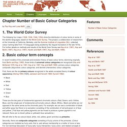 Chapter 132-135: Colour Terms