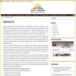 Online Civil Service Test