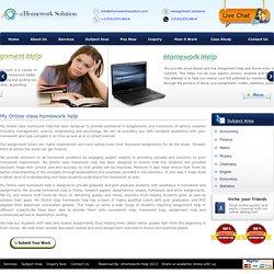 Online My class Homework