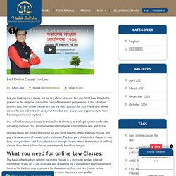 Best Online Classes For Law - Best Law Notes