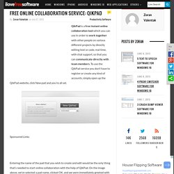 Free Online Collaboration Service: QikPad