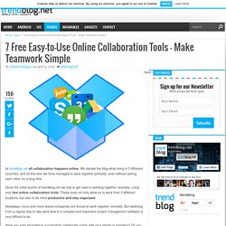 6 Free & Easy-to-Use Online Collaboration Tools