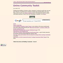 Online Community Toolkit