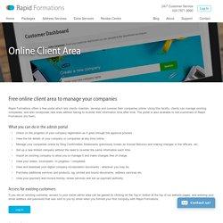About our Online Company Management Portal