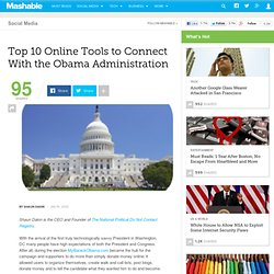 Top 10 Online Tools to Connect With the Obama Administration