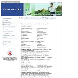 Trad Online CV – Des conseils pour mettre en forme votre CV au f